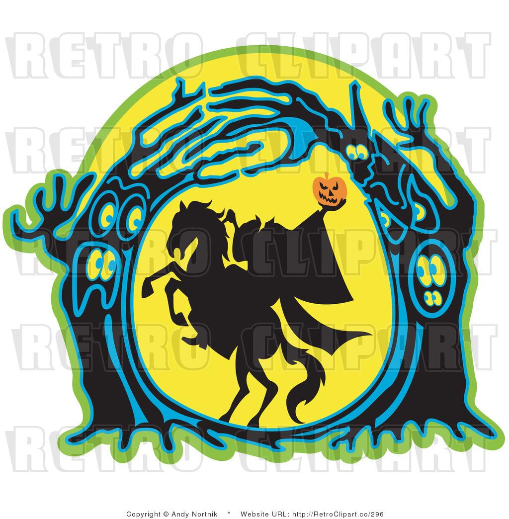 Retro Royalty Free Headless Horseman Vector Clipart by Andy Nortnik ...