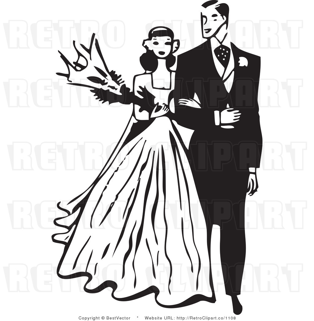 Vintage Wedding Couple Clipart - More information