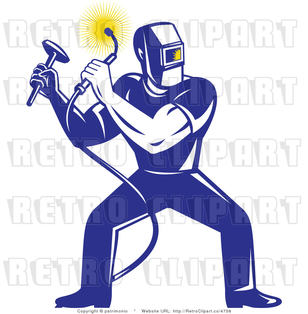 Welding Clip Art http://retroclipart.co/design/royalty-free-retro-blue-welder-by-patrimonio-4758