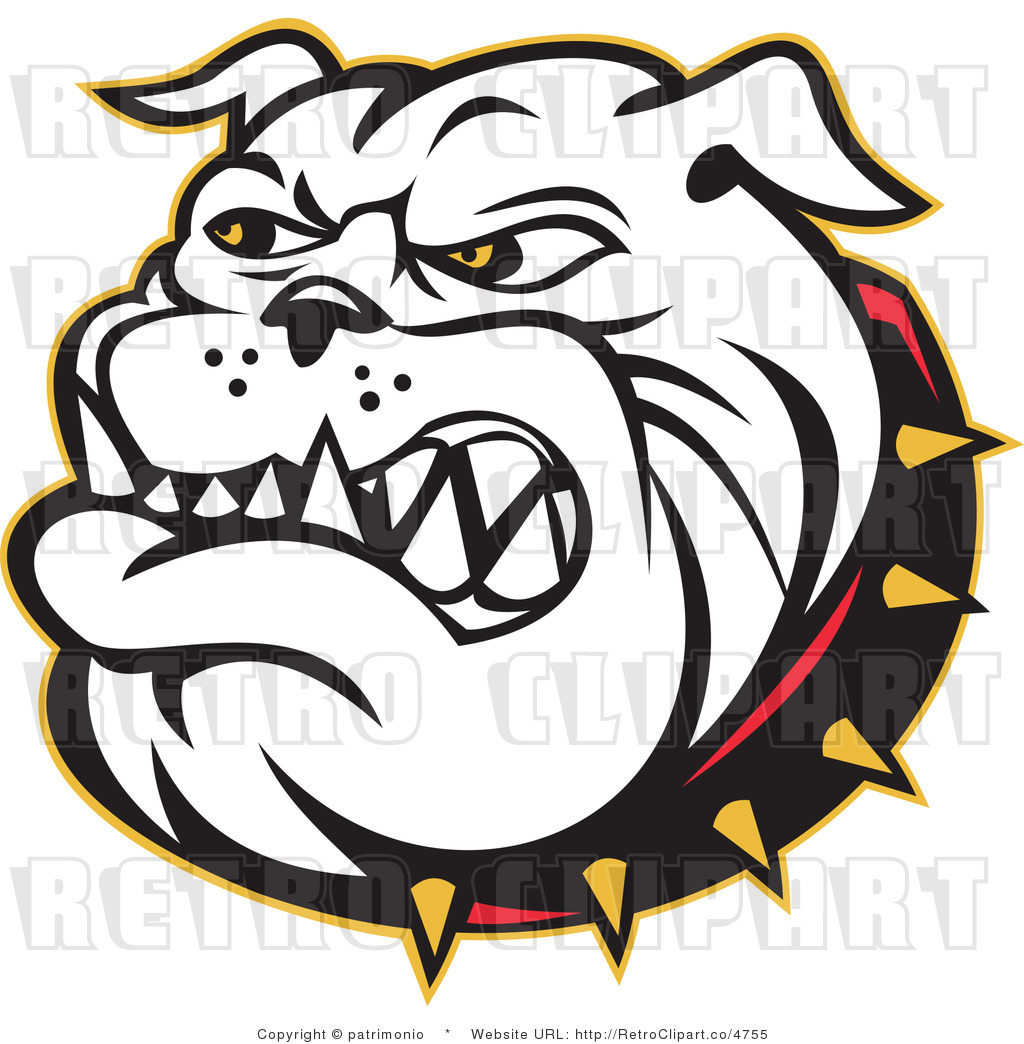 ... free rf retro clipart illustration of bulldog face this bulldog
