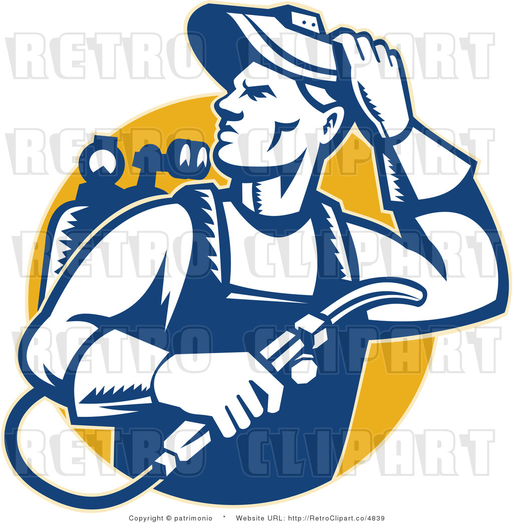 Welding Clip Art http://retroclipart.co/design/royalty-free-retro-welder-man-looking-over-his-shoulder-over-yellow-background-by-patrimonio-4839