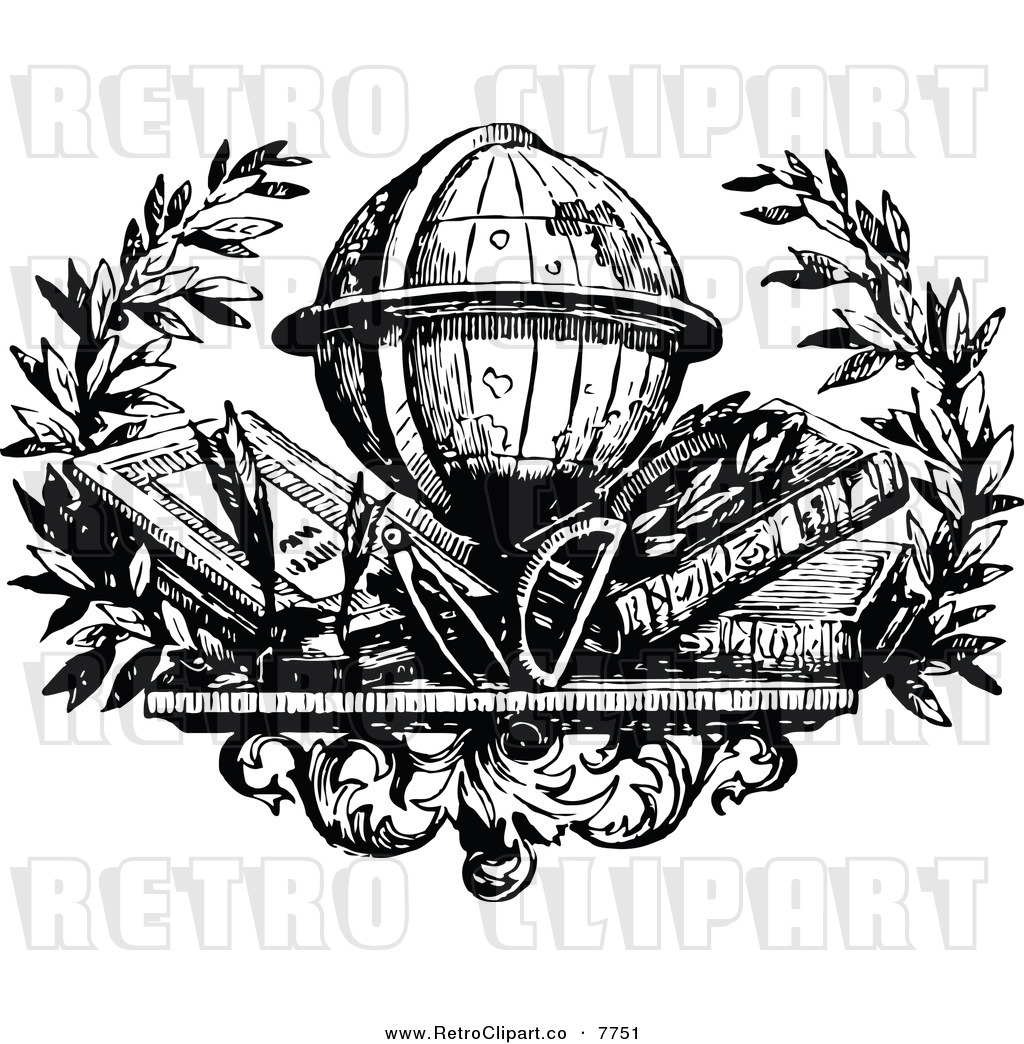 Globe Clip Art Black And White