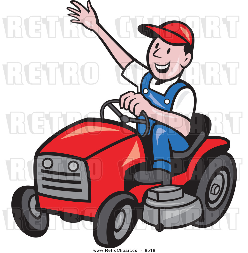 Riding Lawn Mower Cartoon 1024 x 1044