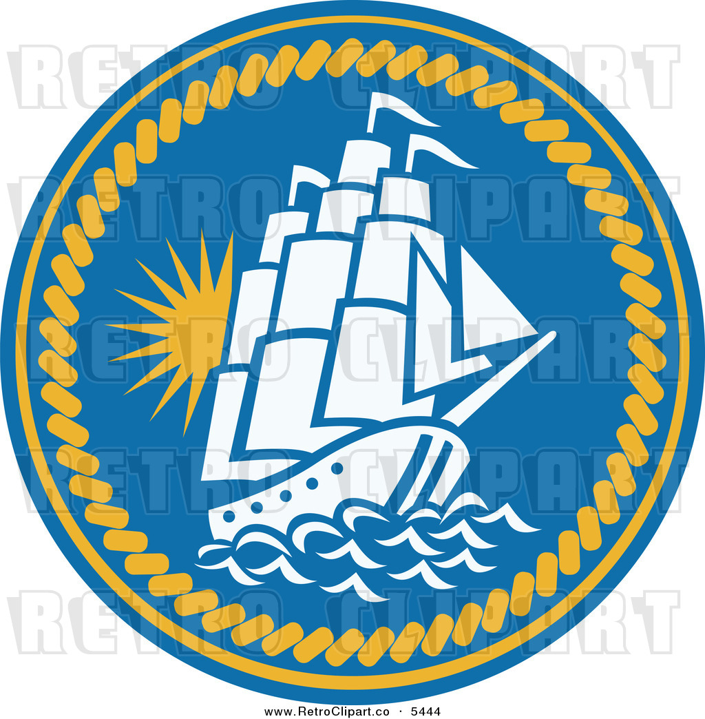 Rope Logo Vector Blue Circle Logo With Rope