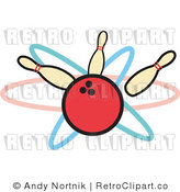 Clip Art Bowling Royalty Free Retro Vector by Andy Nortnik