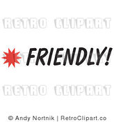 Clip Art Friendly Sign Royalty Free Retro Vector by Andy Nortnik