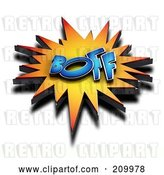 Clip Art of Retro 3d BOFF Comic Cloud with a Shadow by Stockillustrations