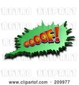 Clip Art of Retro 3d OOOOF Comic Cloud with a Shadow by Stockillustrations