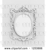 Clip Art of Retro 3d Ornate Wall Frame by Mopic