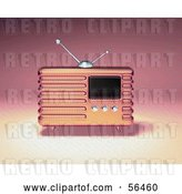 Clip Art of Retro 3d Pink Metal Radio - Version 1 by Julos
