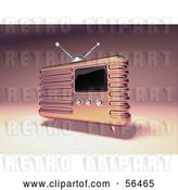 Clip Art of Retro 3d Pink Metal Radio - Version 2 by Julos