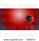 Clip Art of Retro 3d Tv on a Red Background by Julos
