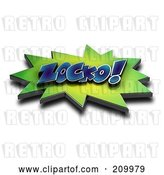 Clip Art of Retro 3d ZOCKO Comic Cloud with a Shadow by Stockillustrations