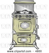 Clip Art of Retro Antique Kitchen Stove & Oven by Djart