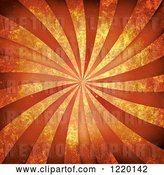 Clip Art of Retro Background of Orange Rays and Distressed Texture by Arena Creative