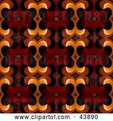 Clip Art of Retro Background of Red, Brown and Orange Designs by Arena Creative