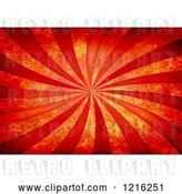 Clip Art of Retro Background of Red Rays and Distressed Texture by Arena Creative