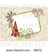 Clip Art of Retro Background with Christmas Trees and Text Space by MilsiArt
