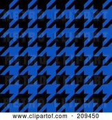 Clip Art of Retro Blue and Black Hounds Tooth Pattern Background by Arena Creative