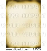 Clip Art of Retro Blurred Old Piece of Parchment Paper with Burnt Edges by KJ Pargeter