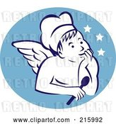 Clip Art of Retro Chef Angel Logo by Patrimonio
