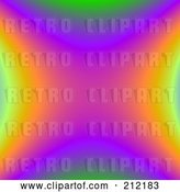 Clip Art of Retro Colorful Rainbow Fractal Background by ShazamImages