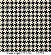 Clip Art of Retro Cream and Black Tight Seamless Houndstooth Pattern Background by Arena Creative