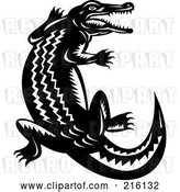 Clip Art of Retro Crocodile by Patrimonio