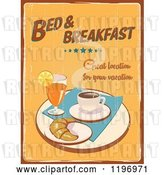Clip Art of Retro Distressed Bed and Breakfast Poster by Eugene
