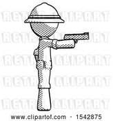 Clip Art of Retro Explorer Guy Firing a Handgun by Leo Blanchette