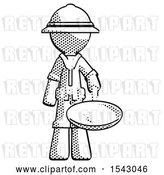 Clip Art of Retro Explorer Guy Frying Egg in Pan or Wok by Leo Blanchette