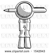 Clip Art of Retro Explorer Guy Head Impaled with Pen by Leo Blanchette