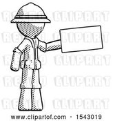 Clip Art of Retro Explorer Guy Holding Large Envelope by Leo Blanchette