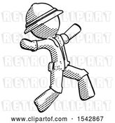 Clip Art of Retro Explorer Guy Running Away in Hysterical Panic Direction Right by Leo Blanchette