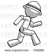 Clip Art of Retro Explorer Guy Running Fast Right by Leo Blanchette
