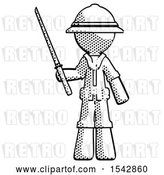 Clip Art of Retro Explorer Guy Standing up with Ninja Sword Katana by Leo Blanchette