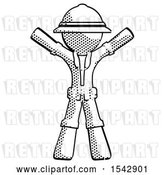Clip Art of Retro Explorer Guy Surprise Pose, Arms and Legs out by Leo Blanchette
