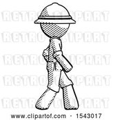 Clip Art of Retro Explorer Guy Walking Right Side View by Leo Blanchette