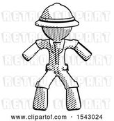 Clip Art of Retro Explorer Male Sumo Wrestling Power Pose by Leo Blanchette