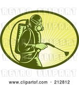 Clip Art of Retro Exterminator Logo by Patrimonio