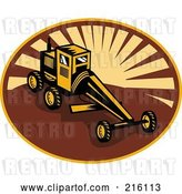 Clip Art of Retro Grader Machine by Patrimonio