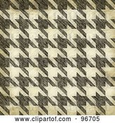 Clip Art of Retro Grungy Textured Seamless Houndstooth Patterned Background by Arena Creative