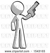 Clip Art of Retro Guy Holding Handgun by Leo Blanchette