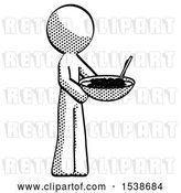 Clip Art of Retro Guy Holding Noodles Offering to Viewer by Leo Blanchette