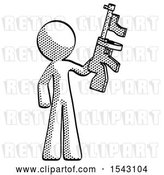 Clip Art of Retro Guy Holding Tommygun by Leo Blanchette
