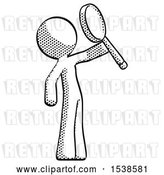 August 14th, 2018: Clip Art of Retro Guy Inspecting with Large Magnifying Glass Facing up by Leo Blanchette