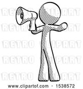 Clip Art of Retro Guy Shouting into Megaphone Bullhorn Facing Left by Leo Blanchette