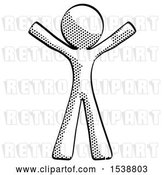 Clip Art of Retro Guy Surprise Pose, Arms and Legs out by Leo Blanchette