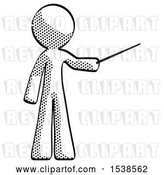 Clip Art of Retro Guy Teacher or Conductor with Stick or Baton Directing by Leo Blanchette