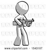 Clip Art of Retro Guy Tommy Gun Gangster Shooting Pose by Leo Blanchette